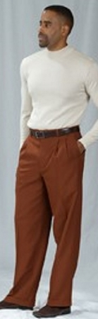 Pacelli Cognac Pleated Baggy Fit Dress Pants 810052 - click to enlarge