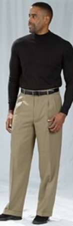 Pacelli Dark Khaki Pleated Baggy Fit Dress Pants 810033 - click to enlarge
