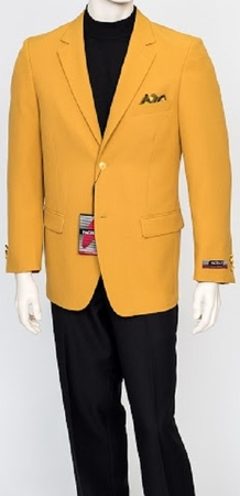 Pacelli Mens Classic Mustard Gold 2 Button Jacket Blair 70027 - click to enlarge