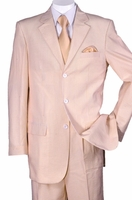 Peach Stripe Seersucker Suit Milano ST802 Size 42 Reg Final Sale