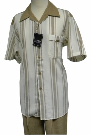 Pronti Luggage Heather Stripe Short Sleeve Walking Sets 6105 - click to enlarge