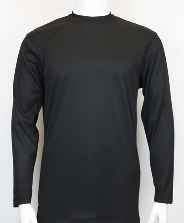 Pronti Mens Black Mock Neck Shirt Long Sleeve 15641 - click to enlarge
