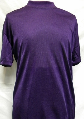 Pronti Shiny Short Sleeve Mock Neck Purple 1564  - click to enlarge