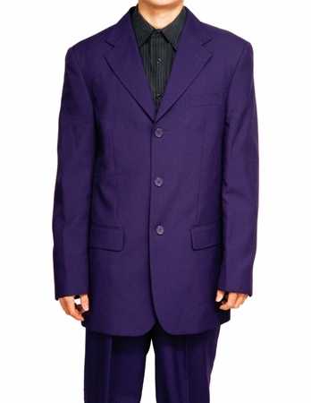 Mens Purple Color Suit by Lucci Button Single Breasted N3PP - click to enlarge
