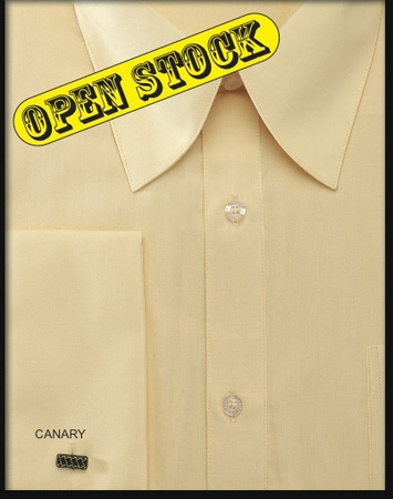 Mens Riley Collar French Cuff Dress Shirt by Fratello DS3008 - click to enlarge