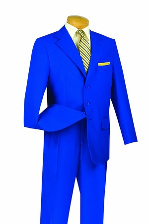 Royal Blue Suits by Lucci 3 Button Mens Suit 3PP big conte - click to enlarge