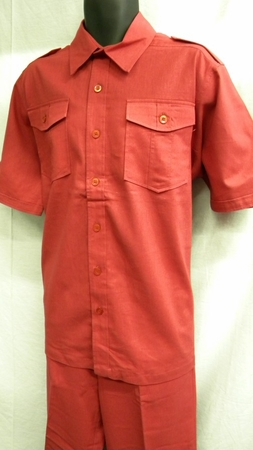 Royalty Culture Raspberry Red Mens Linen Casual Suits LC-211 - click to enlarge