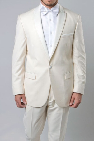 Slim Fit Prom Suit Mens Off White 1 Button SA MT187S - click to enlarge