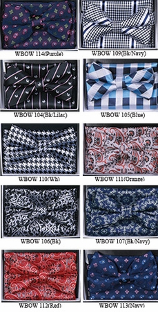 Silky Mens Bow Tie and Matching Hanky Sets WBOW-9 - click to enlarge