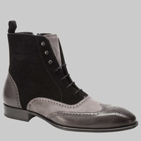 Mezlan Boots Mens Black Grey Wingtip Cerezo