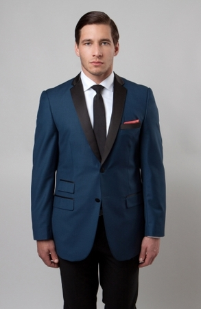 Slim Fit Dinner Jacket Mens Blue Blazer Size 48R MJ136S Final Sale - click to enlarge