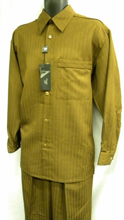 Smokey Joes  Mens Rust Tone On Tone Stripe Walking Suit SE515 - click to enlarge