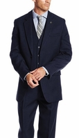 Stacy Adams 3 Piece Suit Mens Dark Blue 1920s Suny Vested 4016-002