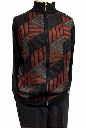 Stacy Adams Black Fashion Sweater Outifit for Men 3376 - click to enlarge