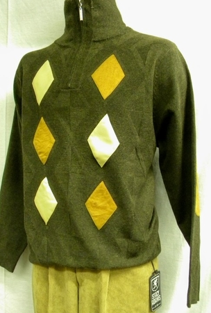 Stacy Adams Brown Beige Suede Patch Sweater SA102 IS - click to enlarge