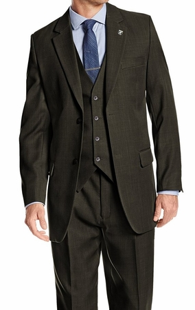 Stacy Adams Mens Hunter Green Suny Vested Fashion Suit 4016-063 OS - click to enlarge