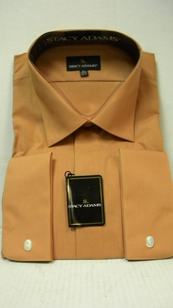 Stacy Adams Copper French Cuff Shirt 39018 Size 18.5 - click to enlarge