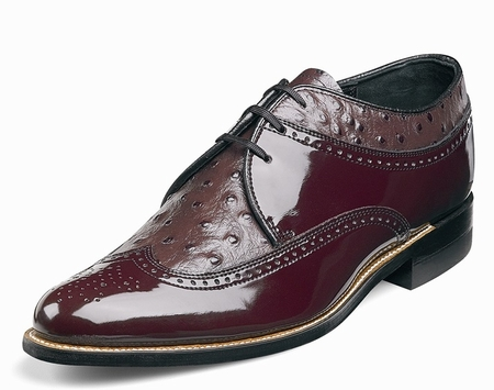 Stacy Adams Dayton Burgundy Wingtip 1920s Style Dress Shoes 00375-05 - click to enlarge