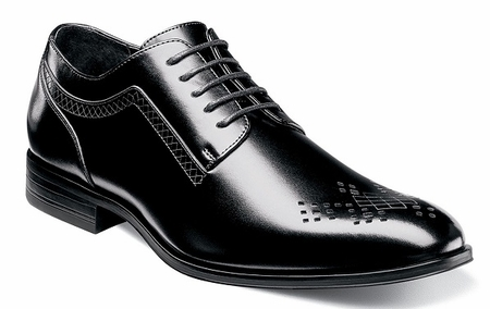Stacy Adams Dress Shoes Mens Black Leather Smooth Style Toe 25101-001 - click to enlarge