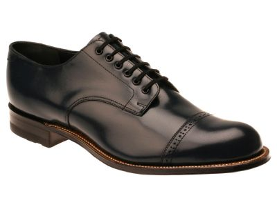 Stacy Adams Madison Men's Navy Smooth Leather Dress Shoes 00012-22