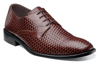 Stacy Adams Mens Cognac Weave Leather Shoes Sanfillipo 24938-221
