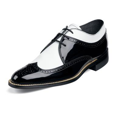 Stacy Adams Shoes Mens Dayton Black White Leather Spectator 00605-21