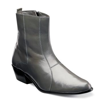 Stacy Adams Mens Grey Leather Boots Santos 24855-020
