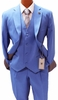 Stacy Adams 3 Piece Suit Mens Blue 1920s Suny Vested 4016-052 IS