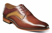 Stacy Adams New Rust Tan Leather 2 Tone Lace Up 25177-229