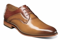 Stacy Adams New Tan Cognac Leather Two Tone Lace Up 25177-238