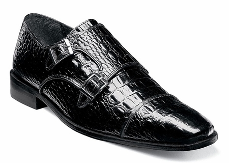 Stacy Adams Shoes Black Buckle Golato 25117-001 OS - click to enlarge