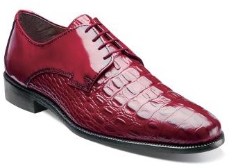 Stacy Adams Mens Red Gator Print Shoes Florio 24935-600 IS
