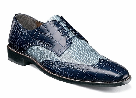 Stacy Adams Shoes Blue Sky Reptile Giordano 25085-460 OS - click to enlarge