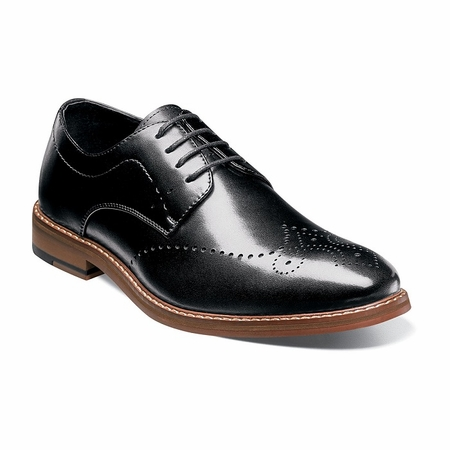 Stacy Adams Shoes Black Wingtip Oxford Alaire 25128-001 - click to enlarge
