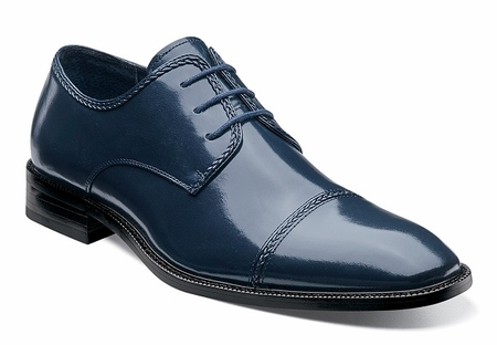 Stacy Adams Shoes Mens Navy Blue Cap Toe Braden 24972-410 OS - click to enlarge