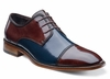 Stacy Adams Shoes Mens Navy Multi Cap Toe Braden 24972-492 OS