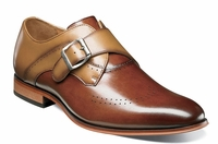 Stacy Adams Shoes New Rust Tan Stylish Monk Strap 25178-229