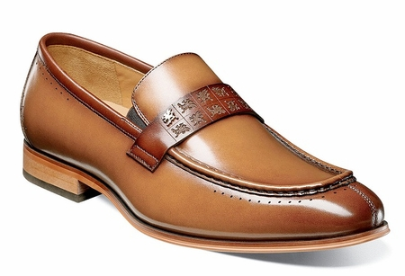Stacy Adams Shoes New Tan Rust Stylish Penny Loafer 25179-229 - click to enlarge