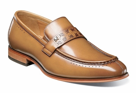 Stacy Adams Shoes New Tan Stylish Penny Loafer 25179-240 - click to enlarge