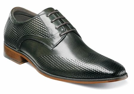 Stacy Adams Shoes Olive Leather Wingtip Pattern 25079-303 OS - click to enlarge