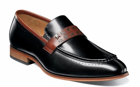 Stacy Adams Shoes Stylish Black Rust Penny Loafer 25179-969 - click to enlarge