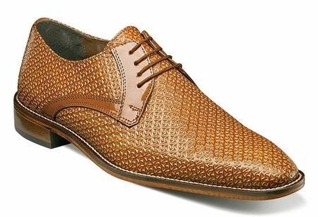 Stacy Adams Shoes Tan Texture Leather Rico 25083-240 OS - click to enlarge