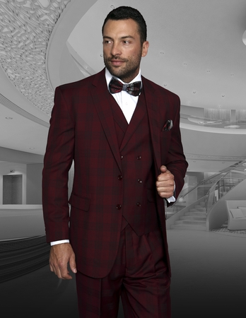 bdd4585a37a Shop Fino Uomo Men s Slim Fit 3 Piece Suits – On Sale – Free Shipping Today  – Overstock.com – 17432305
