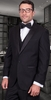 Statement Wool Tuxedo 3 Button 3 Piece Black Tux-PK