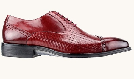 Steven Land Designer Fashion Red Cap Toe Oxford Sl0018 - click to enlarge
