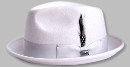 Steven Land Hats Mens Wool Silver Stingy Brim Ayden - click to enlarge