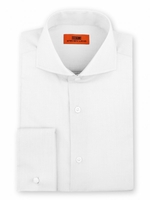 Steven Land Shirt Mens White Taper Collar French Cuff DC60