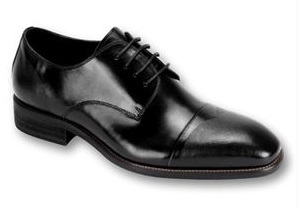 Steven Land Shoes Black Leather Cap Toe SL0005