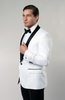 Slim Fit Dinner Jacket White Black Collar Tazio MJ118S