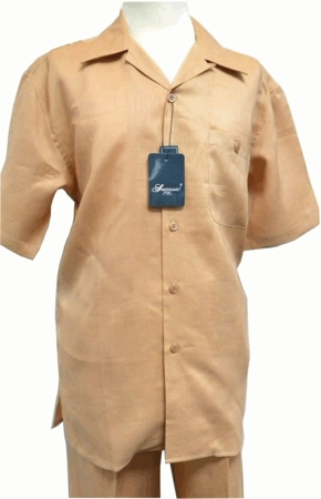 Successo Mens Linen Outfits Salmon 1065 - click to enlarge